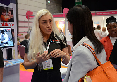 Educating at the Chilcdcare Expo 2017 in Coventry
